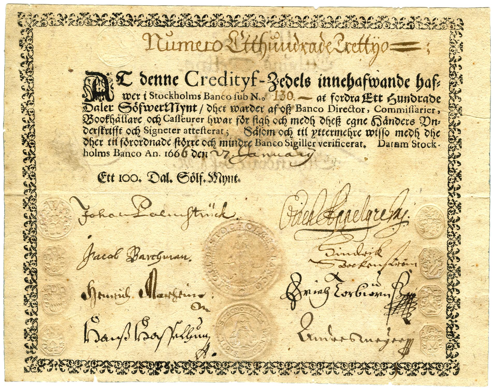 Kreditivsedel-100-daler-silvermynt_Palmstruchare_kopia